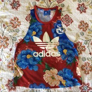 Adidas x Farm Chita Floral Print Tank Top Trefoil